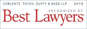 Badge recognizing Coblentz as one of the best law firms in San Francisco.