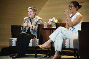 Janet Napolitano with Charmaine Yu